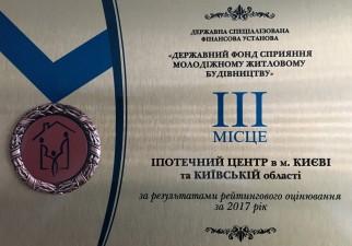 Держмолодьжитло відзначило роботу Іпотечного центру за 2017 рік